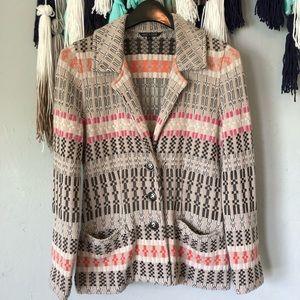 Nic + Zoe - Knit Cardigan Blazer Retro Multicolor